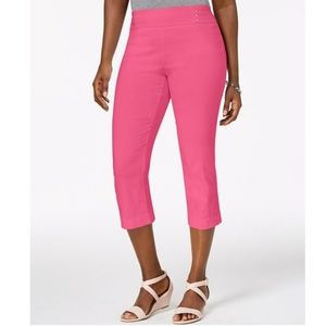 JM Collection Pants - JM COLLECTION Embellished Pull-On Capri Pants